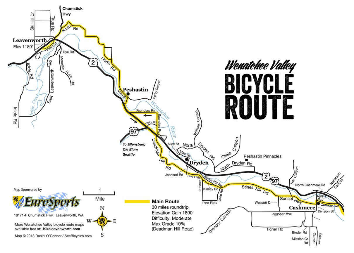 Route Maps - Wenatchee Valley Scenic Bikeway